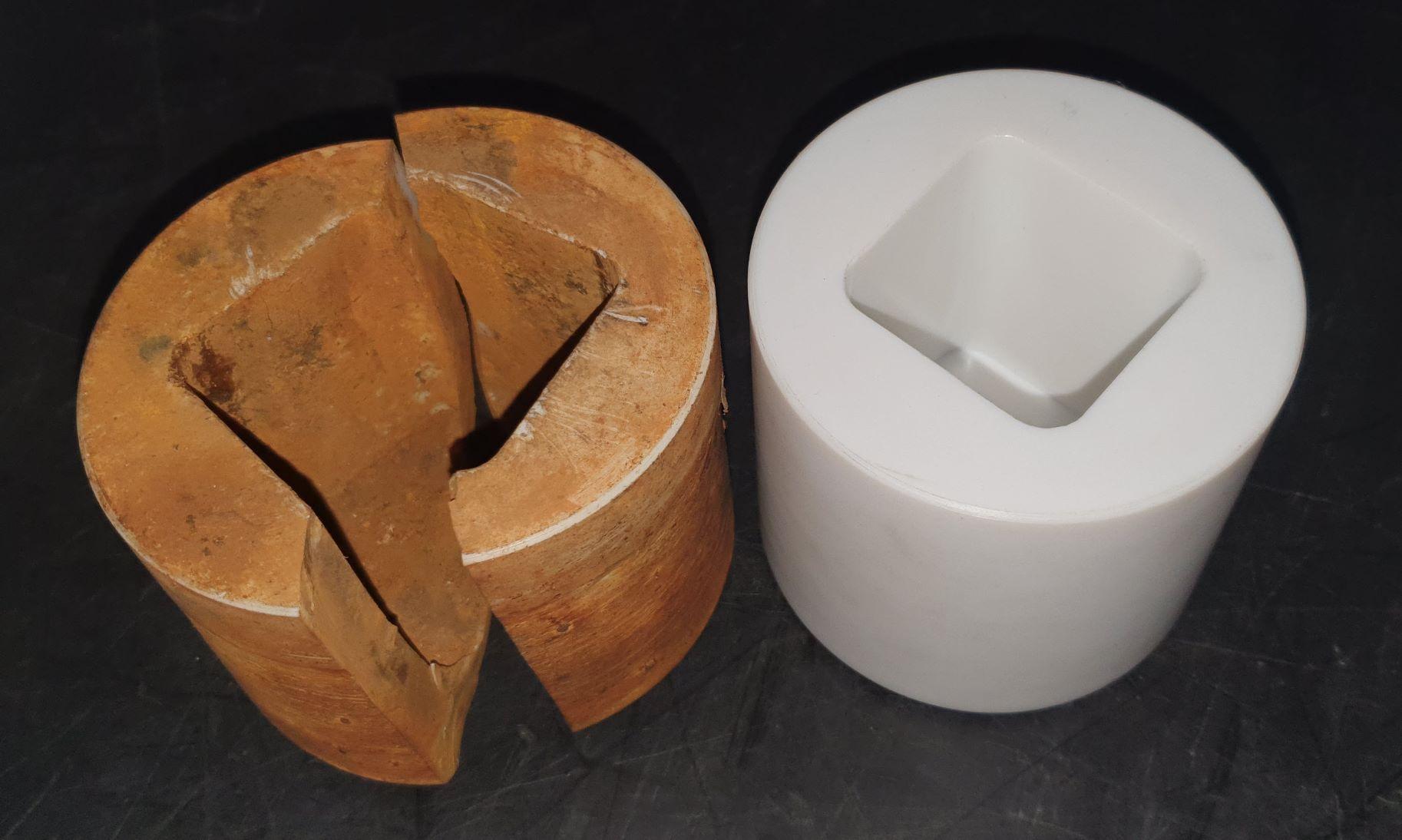 old plastic bush-dense thermo plastic